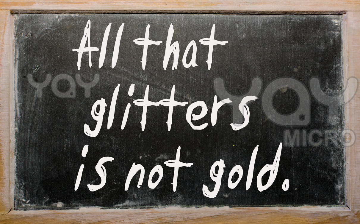 all that glitters is not gold easy essay