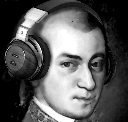 Mozart knows how to jam...and apparently , expand brain usage.