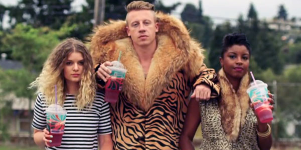 Hey, even Macklemore knows how to be comfortable in his own skin. And so does his side chicks.